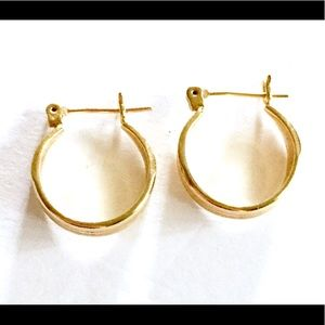 Gold hoop earrings vintage